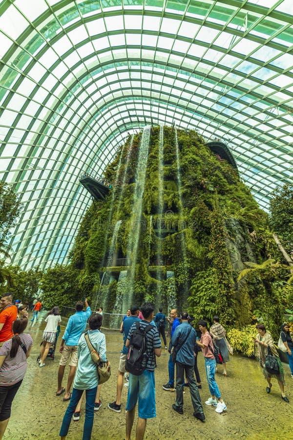 Сады заливом, куполом леса облака o стоковое изображение