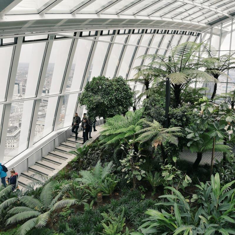 Сады неба в Лондоне стоковая фотография rf