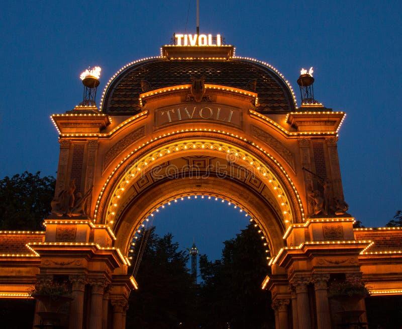 Сады Tivoli в Копенгагене стоковые изображения rf