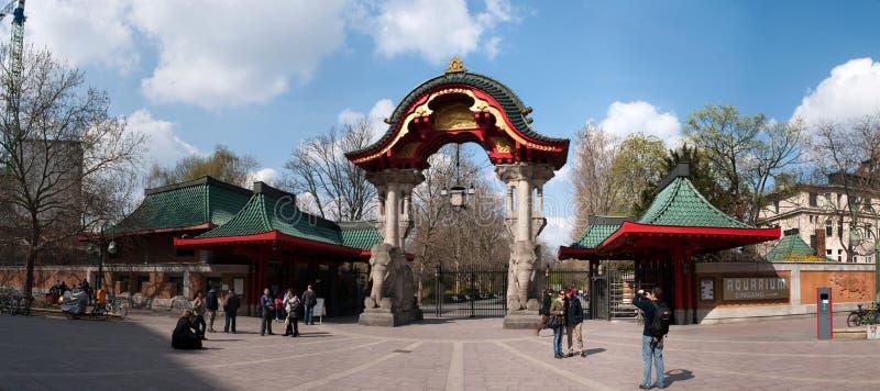 сад входа berlin к зоологическому стоковое фото rf