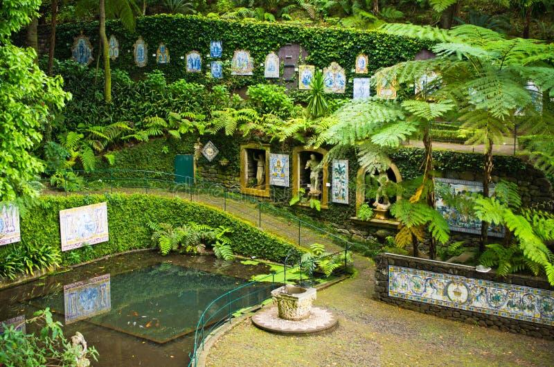Сад дворца Monte тропический в Фуншале, острове Мадейры стоковая фотография rf