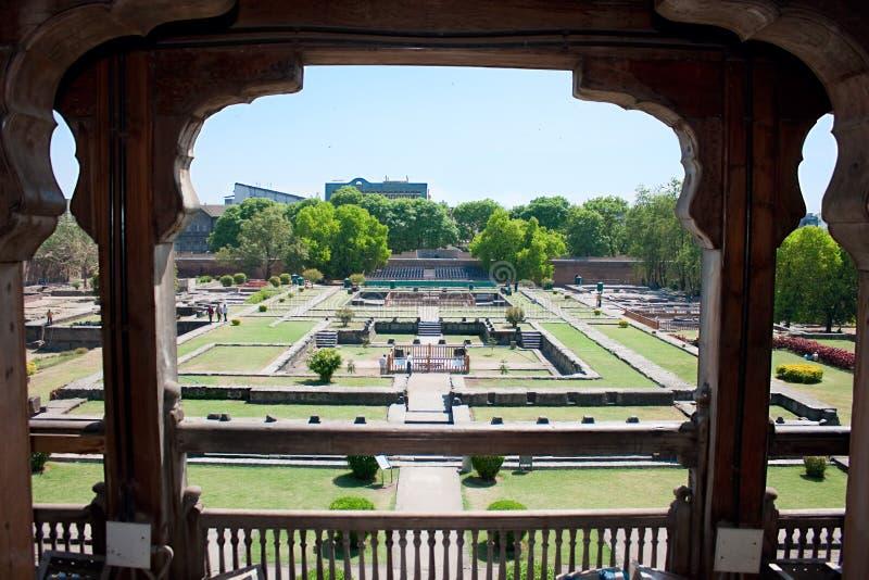Сад дворца Shaniwar Wada стоковое изображение rf