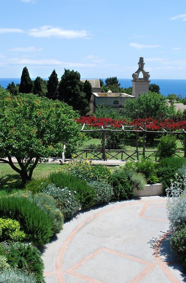 Сад Капри ботанический стоковая фотография rf
