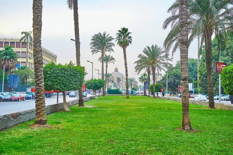 Сад квадрата Nahdet Masr, Гизы, Египта стоковые изображения