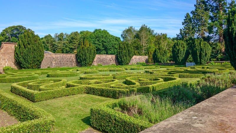 Сад лабиринта в Гамильтоне, Шотландии стоковая фотография rf