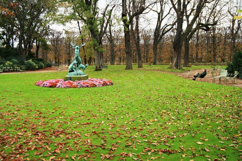 сад Люксембург paris стоковая фотография rf