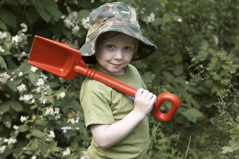 сад мальчика стоковое фото
