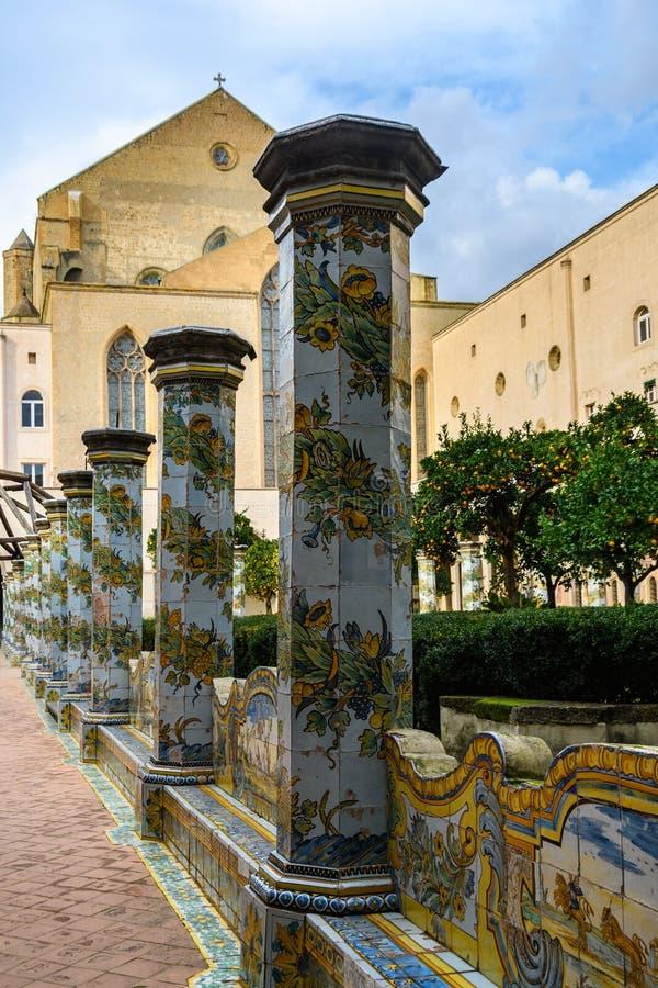 Сад монастыря Santa Clara в Неаполь, Италии стоковое фото