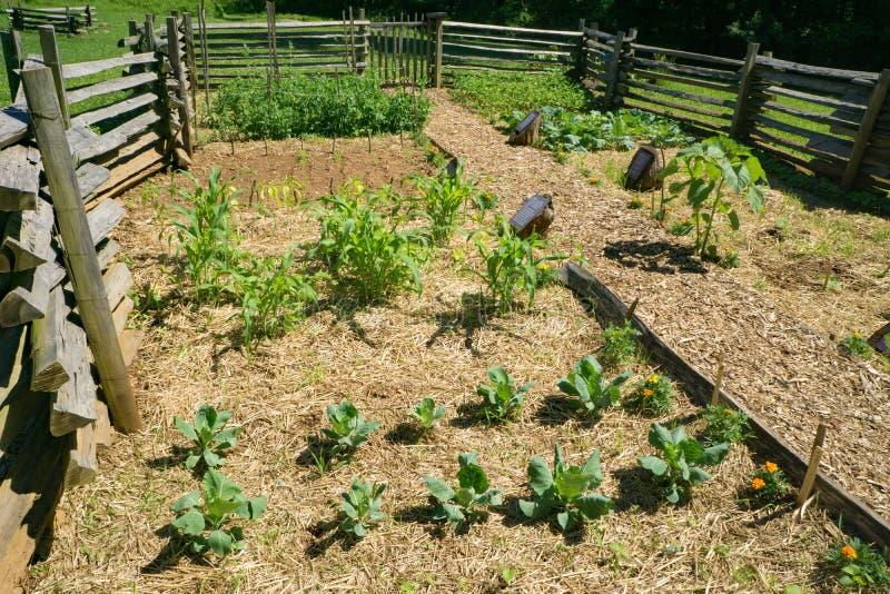 Сад на утесах горба обрабатывает землю музей стоковое изображение rf