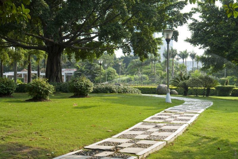 сад переулка стоковые изображения rf