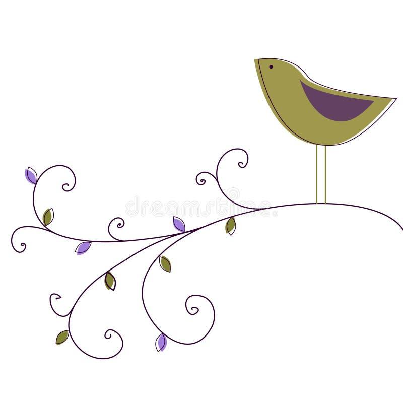 сад птицы иллюстрация штока