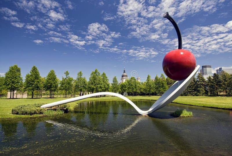 Сад скульптуры Миннеаполиса стоковые изображения rf