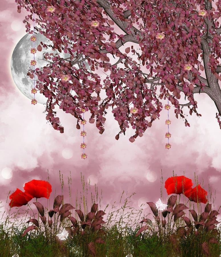 Сад сновидений иллюстрация вектора