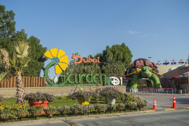 Сад чуда Дубай стоковое изображение rf
