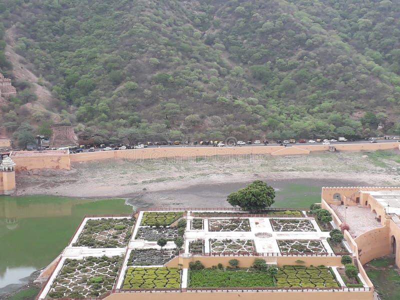 Сад Amer в Джайпуре стоковое изображение