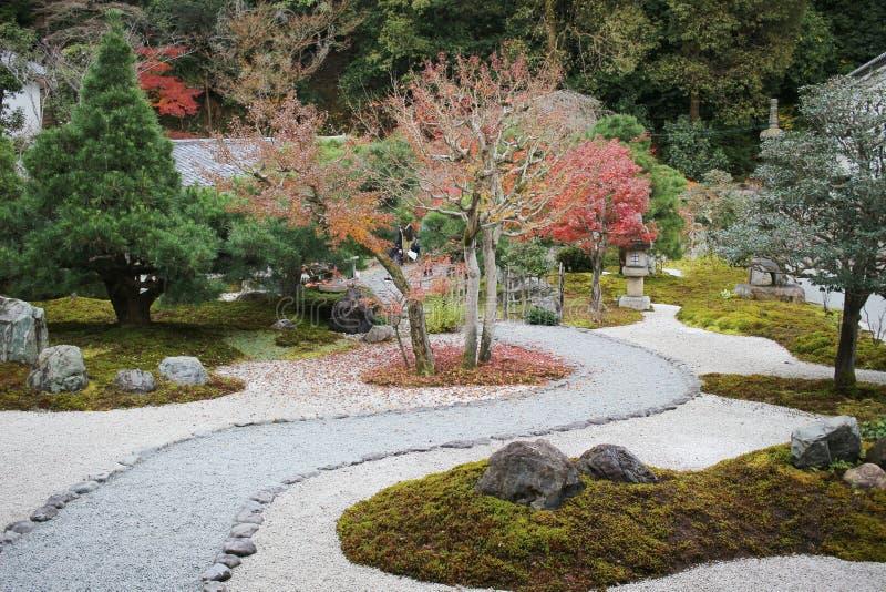 сад Autam в виске Konkai Komyoji стоковая фотография