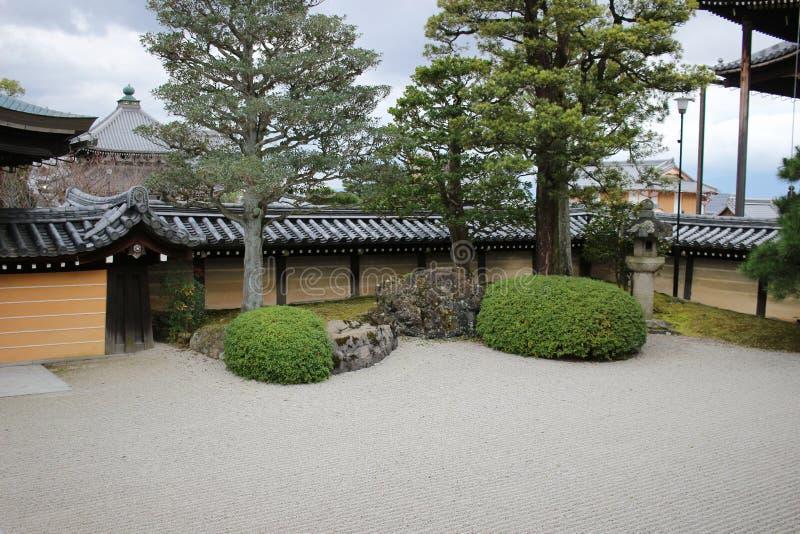 сад Autam в виске Konkai Komyoji стоковое фото