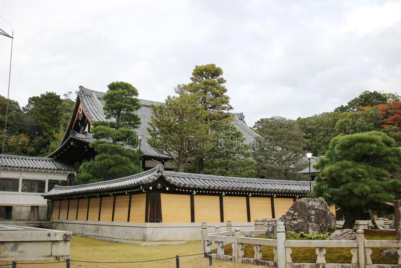 сад Autam в виске Konkai Komyoji стоковое изображение rf