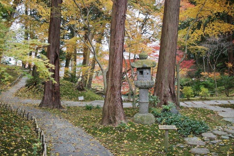 сад Autam llthe в виске Konkai Komyoji стоковые фотографии rf