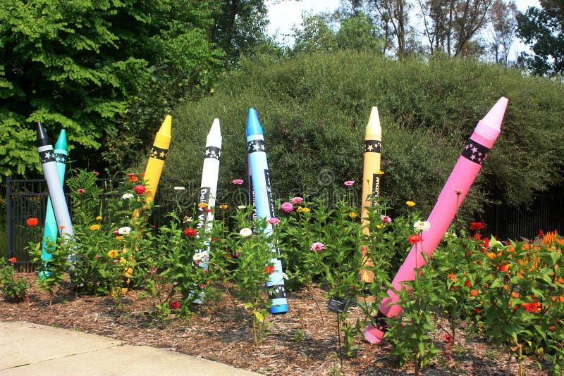 Сад Crayon на садах Зелёного залива ботанических стоковые фото