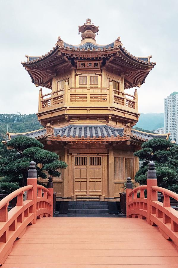 Сад Nan Lian, Nunnery Lin хиа, Гонконг стоковая фотография rf