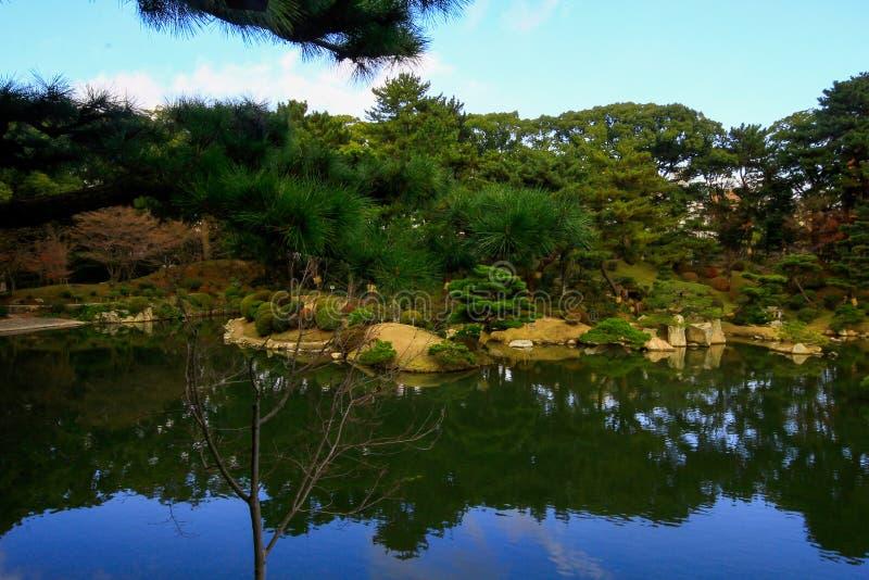 Сад Shukkeien, Хиросима Япония стоковые фотографии rf