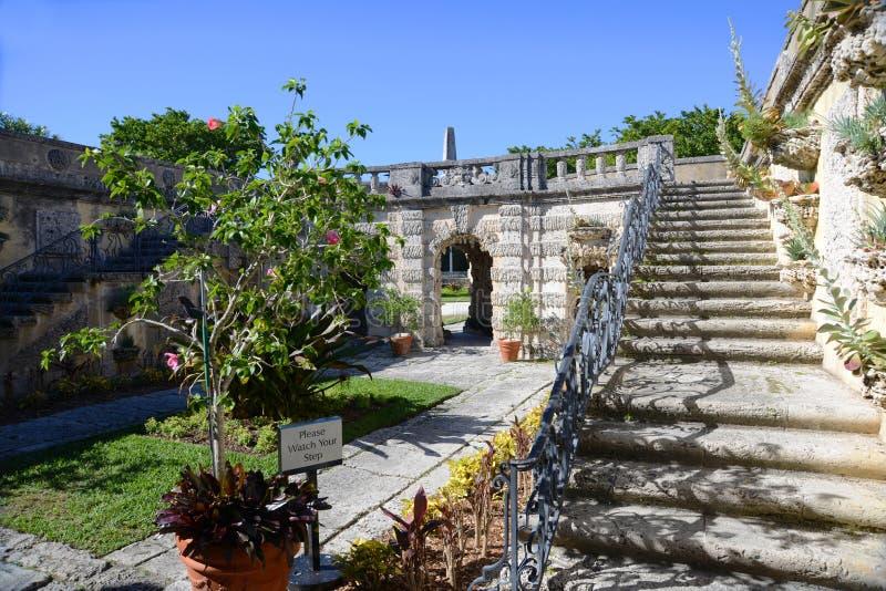 Сад Vizcaya в Майами, США стоковое фото