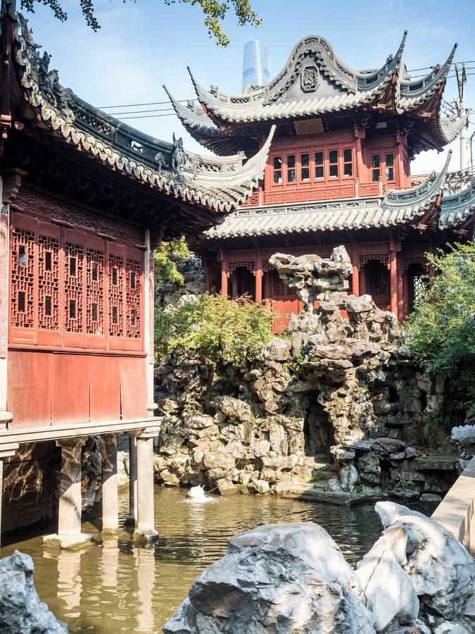 Сад Yu юаней Yu, Шанхай, Китай стоковые изображения