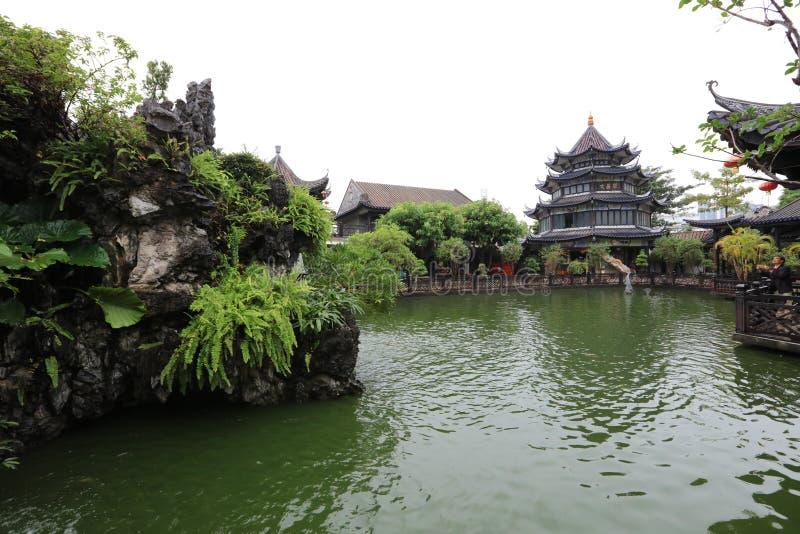Сад #6 Yuyin Shanfang - один из самого красивого сада 4 в Гуанчжоу - - историческая достопримечательность Гуанчжоу - Гуандун - Ки стоковое изображение