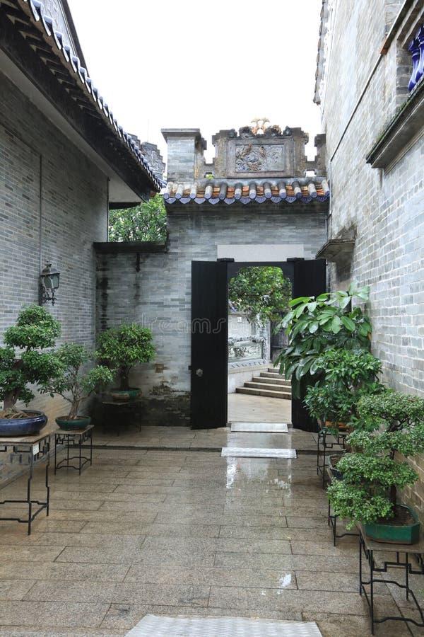 Сад #9 Yuyin Shanfang - один из самого красивого сада 4 в Гуанчжоу - - историческая достопримечательность Гуанчжоу - Гуандун - Ки стоковое изображение