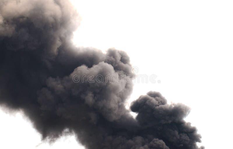 сажа черный дым стоковая фотография rf
