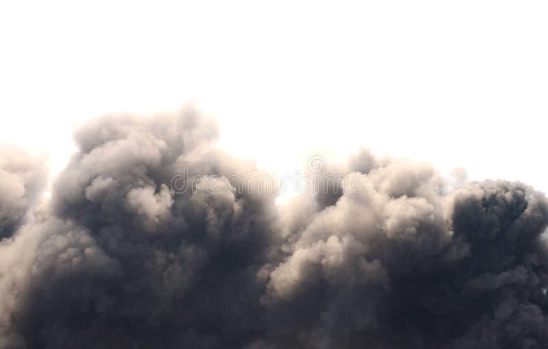 сажа черный дым стоковое фото