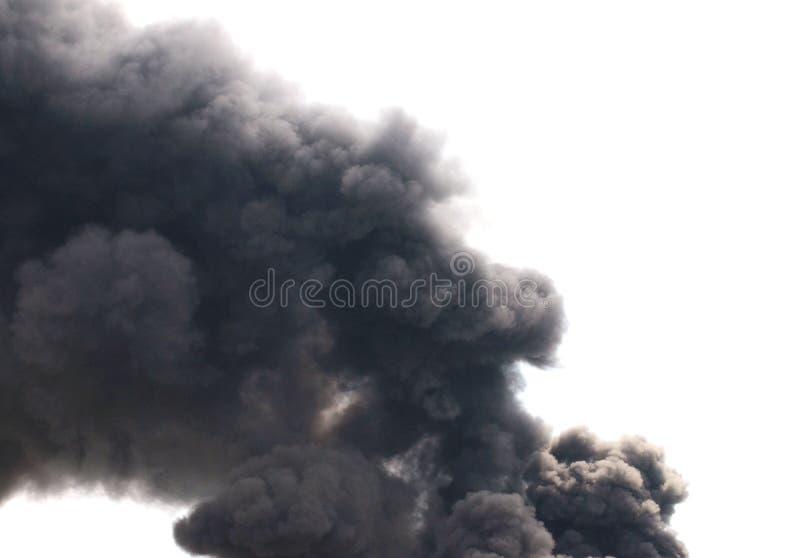 сажа черный дым стоковые изображения