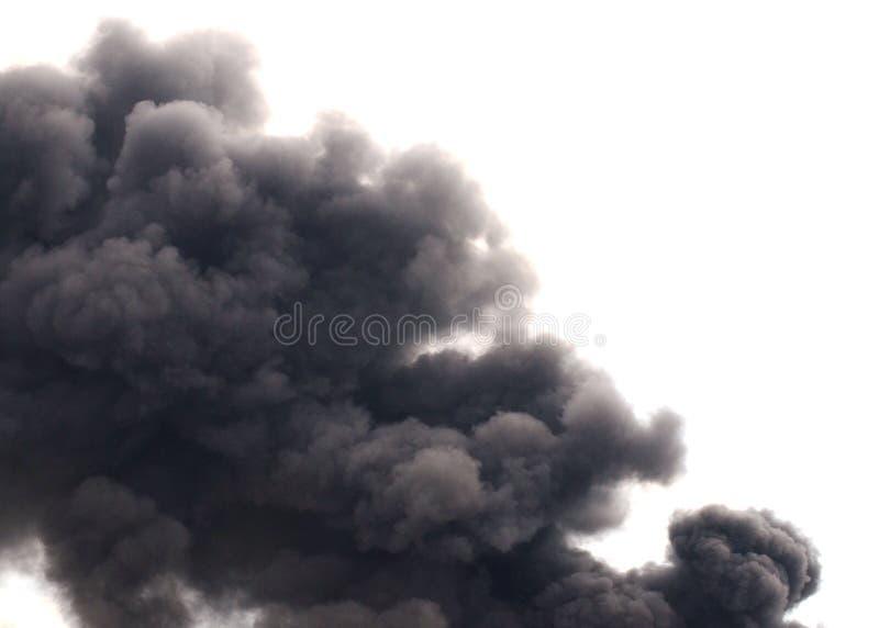 сажа черный дым стоковые фото