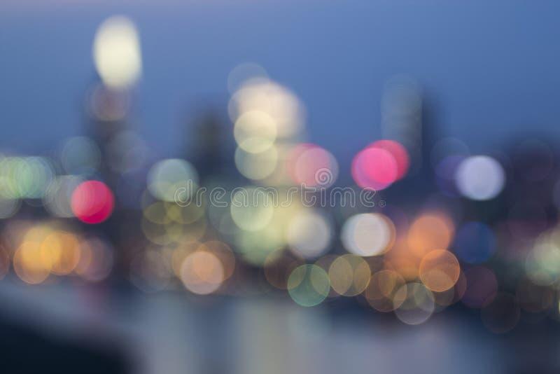 САЙГОН, ВЬЕТНАМ - 23-ье декабря 2016 - запачкайте света от САЙГОНА, ландшафт впечатления Хошимина на ноче стоковая фотография rf