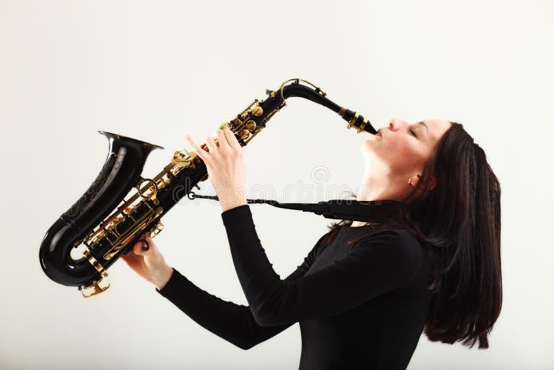 саксофонист стоковое изображение