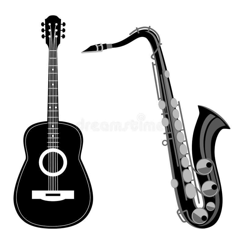 Мелодии гитара и сексофон