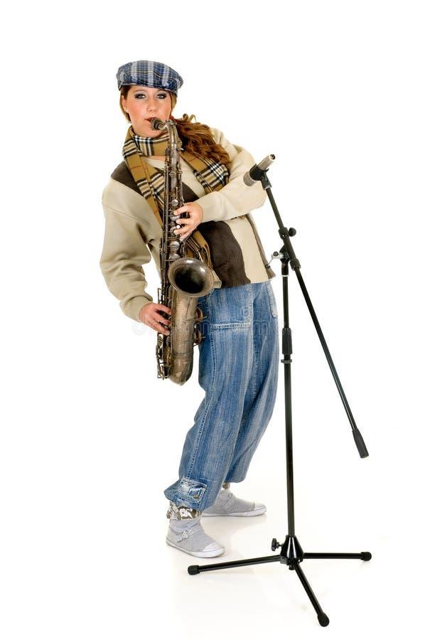 саксофон совершителя нот стоковые изображения rf