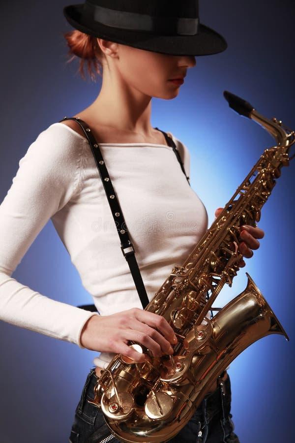 саксофон фокуса стоковое изображение rf