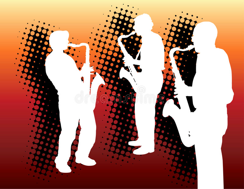 саксофон 3 игроков бесплатная иллюстрация