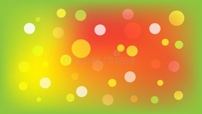 Салатовая предпосылка вектора с кругами Иллюстрация с набором светить красочной ступенчатости Картина для буклетов, листовок иллюстрация штока