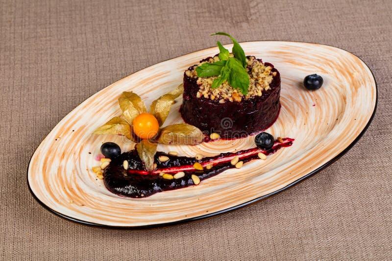 Салат бураков Vegan стоковая фотография rf