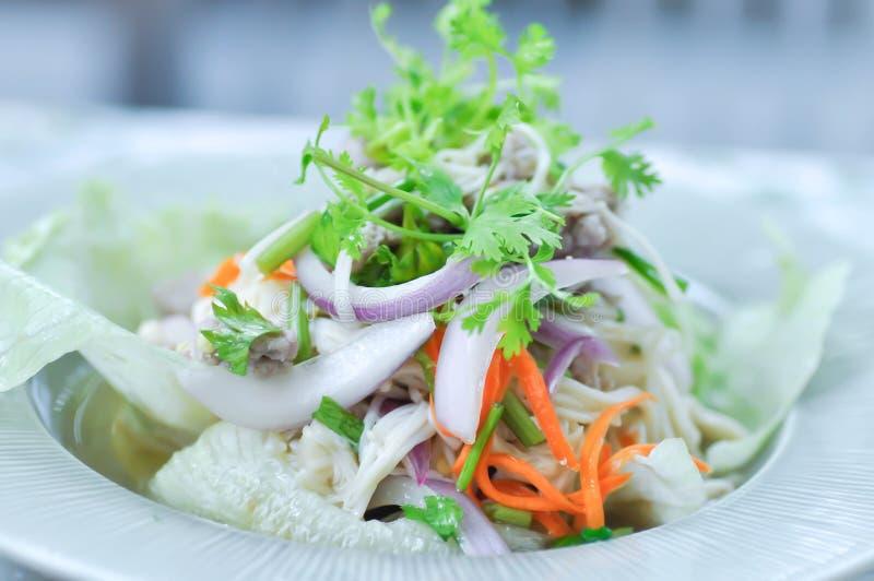 Салат гриба или пряный салат стоковые изображения rf