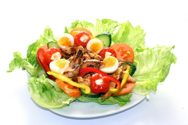 салат зажженный цыпленком стоковая фотография