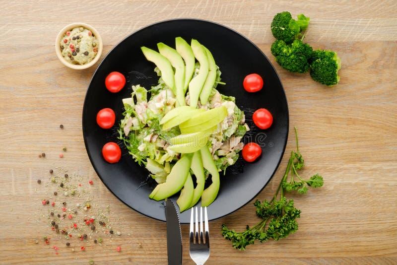 Салат зеленых овощей стоковое изображение