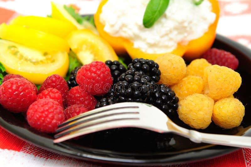 салат калории ягоды низкий стоковая фотография rf