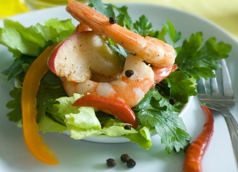 салат креветки стоковые фото