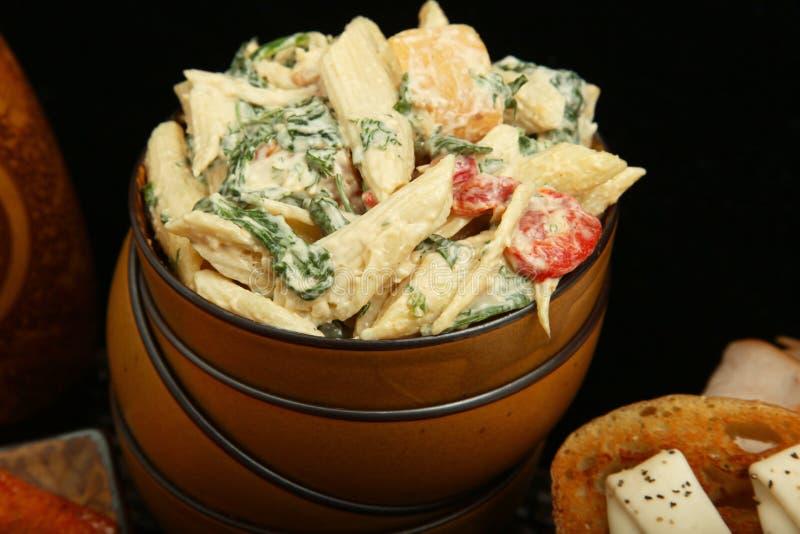 салат макаронных изделия цыпленка стоковые фотографии rf