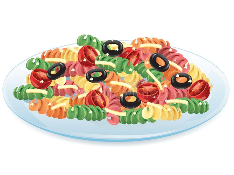 салат макаронных изделия иллюстрация штока