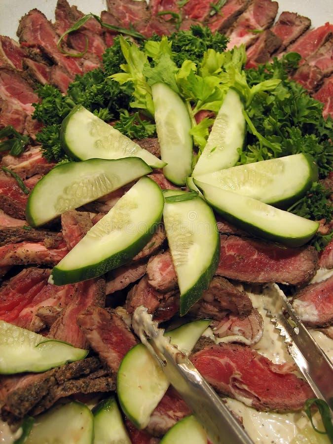 салат мяса стоковое изображение rf